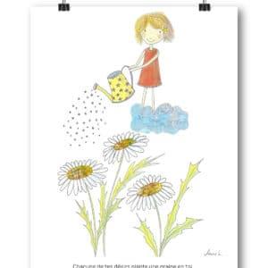 Carte Postale – « Chacun de tes désirs plante une graine en toi. »