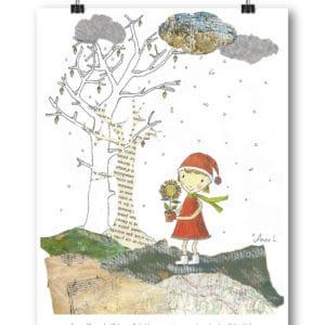 Carte postale – « Au milieu de l'hiver, j'ai découvert en moi un invincible été. »