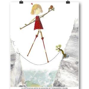 Carte postale – « La différence entre le possible et l'impossible réside dans la détermination. »