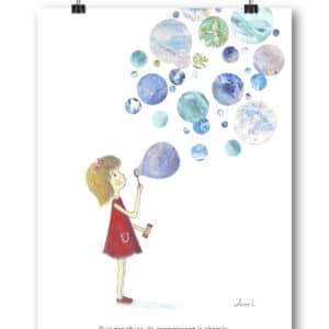 Carte postale – « Suis tes rêves, ils connaissent le chemin. »