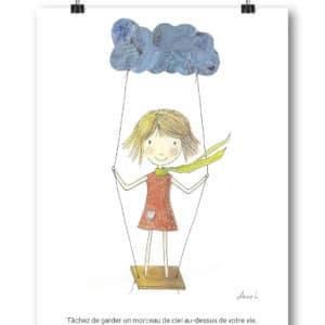 Carte Postale – « Tâchez de garder toujours un morceau de ciel au-dessus de votre vie. »
