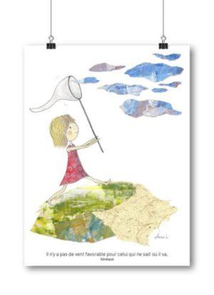 Carte postale – « Il n'y a pas de vent favorable pour celui qui ne sait où il va. »