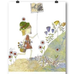 Carte postale – « Un livre est comme un jardin que l'on porte dans sa poche. »
