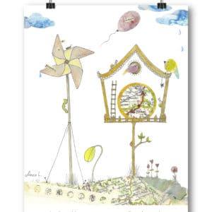 Carte postale – « La vie est bien trop courte pour que l'on soit pressé. »
