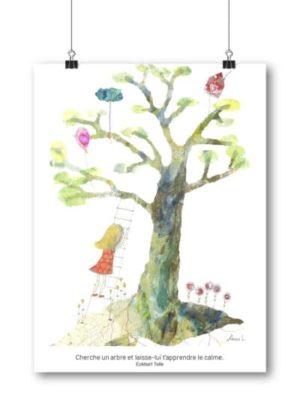Carte postale – « Cherche un arbre et laisse-lui t'apprendre le calme. »